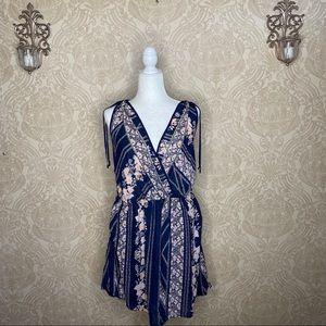 Just Found floral sleeveless mini dress